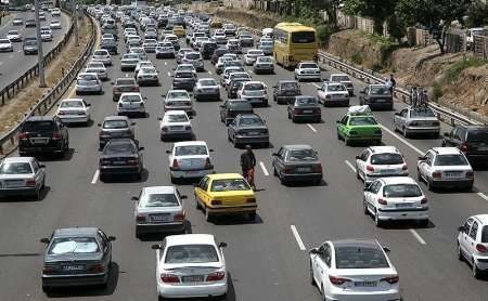 ترافیک پرحجم در جاده های هراز و چالوس