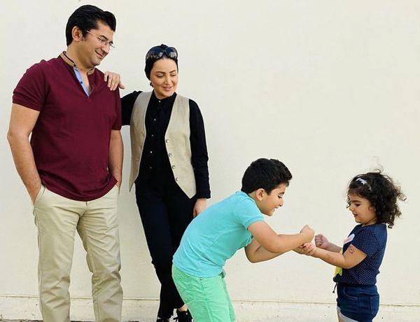 شیلا خداداد در کنار خانواده شادش + عکس