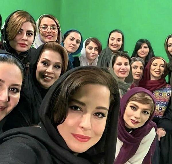 مهراوه شریفی نیا و بازیگران دل در پشت صحنه + عکس