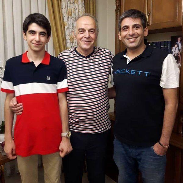 حمید گودرزی و پدرش+عکس