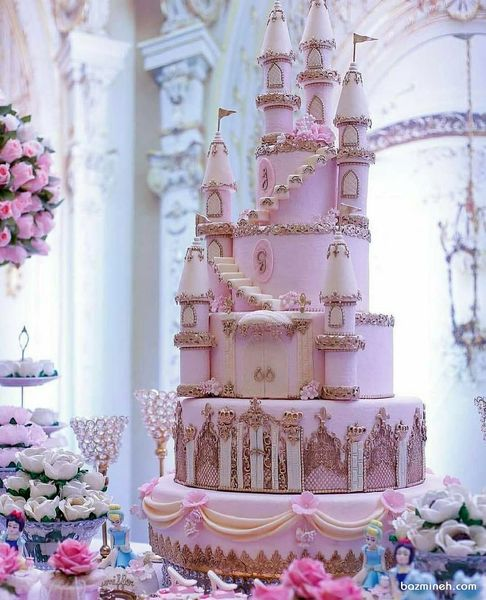 مدل کیک قلعهای دخترانه برای تولد+عکس
