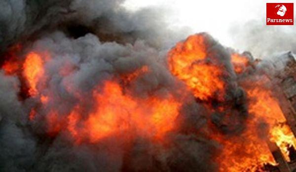 به آتش کشیده شدن چاههای نفتی سوریه