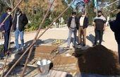 مراسم تشییع پیکر «آزاده نامداری»+تصاویر