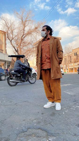 استایل عجیب رضا بهرام در خیابان + عکس
