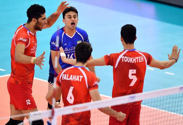 ایران در AVC کاپ برابر تایپه پیروز شد