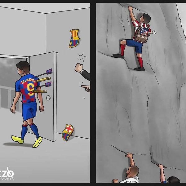 بلای ستاره اخراجی بارسلونا بر سر این تیم+کاریکاتور