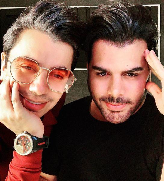محسن ابراهیم زاده و دوستش + عکس