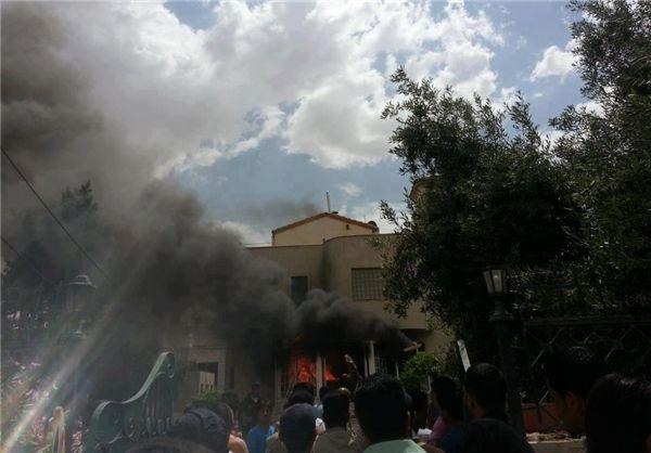 وهابیها آرامگاه «جعفر طیار» را به آتش کشیدند+عکس