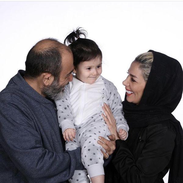 خانواده شاد سه نفره مهران غفوریان + عکس