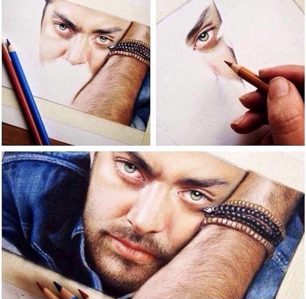 نقاشی زیبایی از چهر رادان + عکس