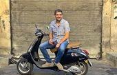 حمید گودرزی و وسیله نقلیه مورد علاقه اش+عکس