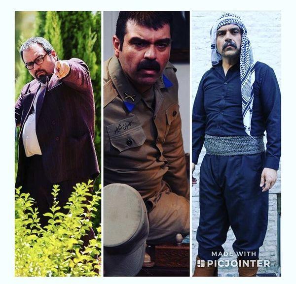 شهرام قائدی با گریمهایی متفاوت + عکس