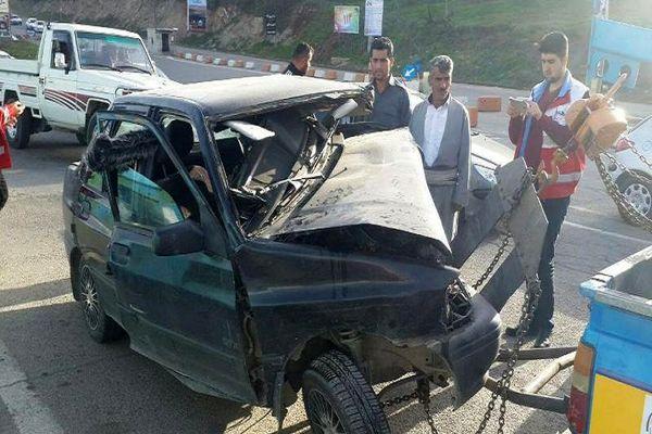 تصادف مرگبار در جاده بوکان - سقز