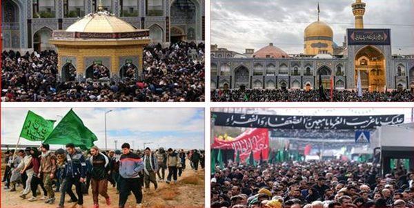 حضور میلیونی عزاداران در خیابانهای منتهی به حرم مطهر رضوی