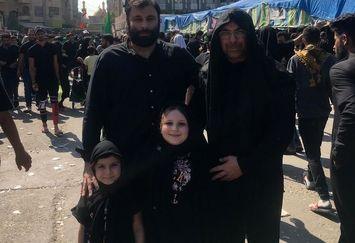 الیاس قالیباف و خانواده در کربلا+عکس
