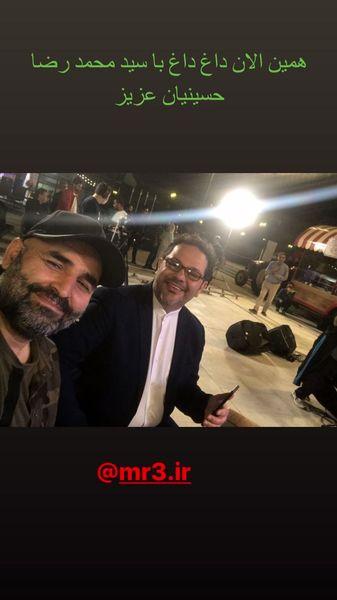 علی مشهدی در کنار محمدرضا حسینیان + عکس