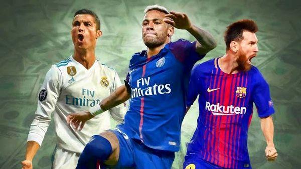 نیمار، مسی و رونالدو، گران تر از 9 تیم جام جهانی!