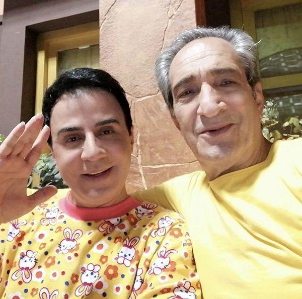 خشایار راد در کنار مجری مشهور برنامه ها کودک + عکس