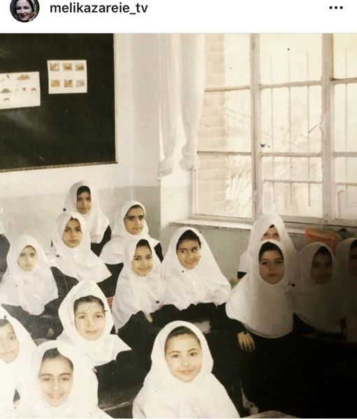 کودکی ملیکا زارعی در مدرسه + عکس