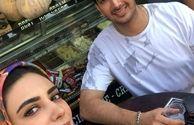 لیندا کیانی و آقای خواننده در آب میوه فروشی+عکس