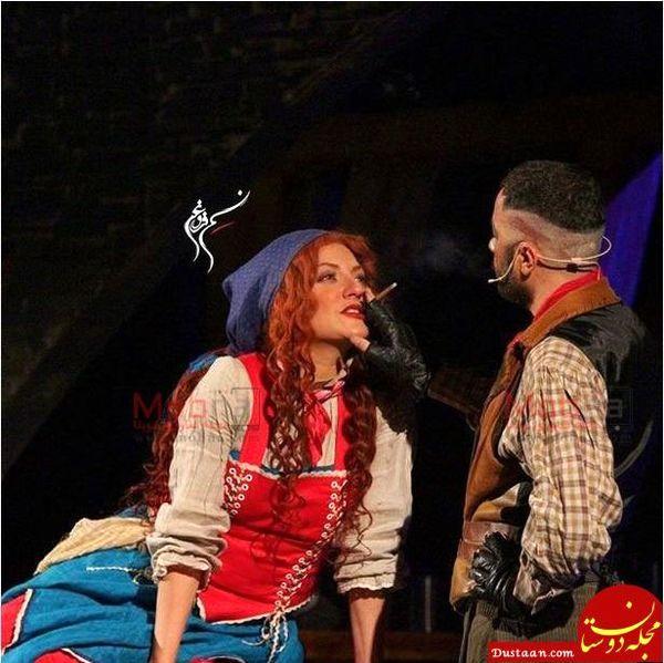 عکس منشوری مهناز افشار در تئاتر
