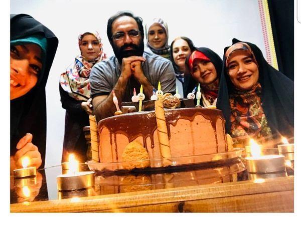 سوپرایز آقای کارگردان برای تولدش+عکس