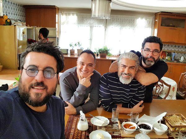 صبحانه دسته جمعی آقایون بازیگر هم گناه+عکس