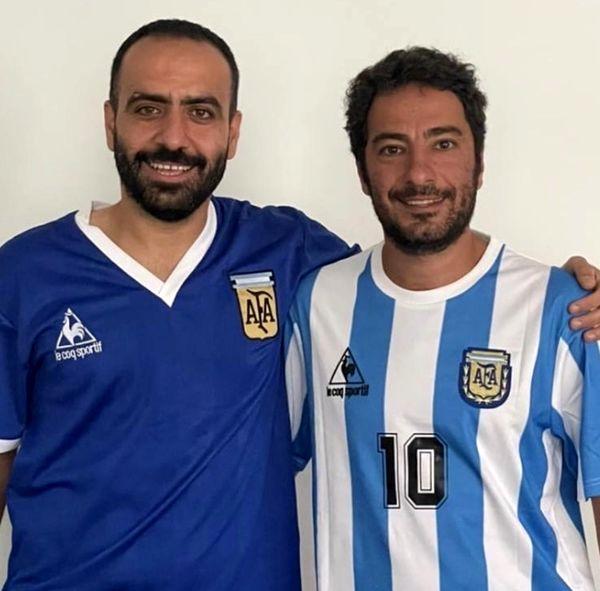 نوید محمدزاده در لباس فوتبالیست مورد علاقه اش + عکس