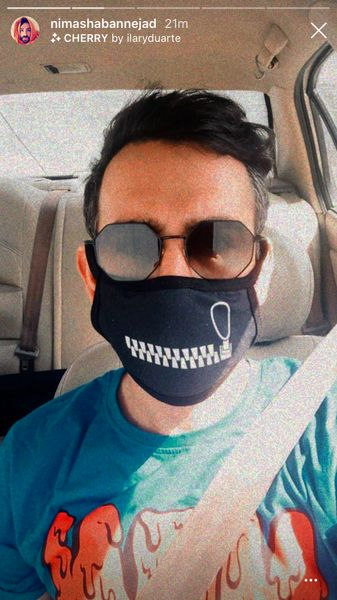 ماسک عجیب نیما شعبان نژاد + عکس