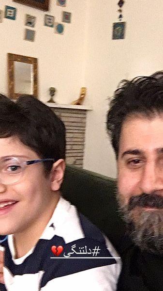 هومن حاجی عبداللهی در کنار پسرش + عکس