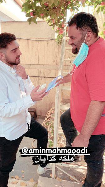 محمدرضا غفاری در پشت صحنه سریال ملکه گدایان + عکی