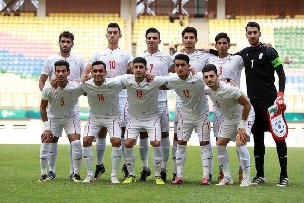 دیدار دوستانه تیم ملی فوتبال امید ایران برابر امارات