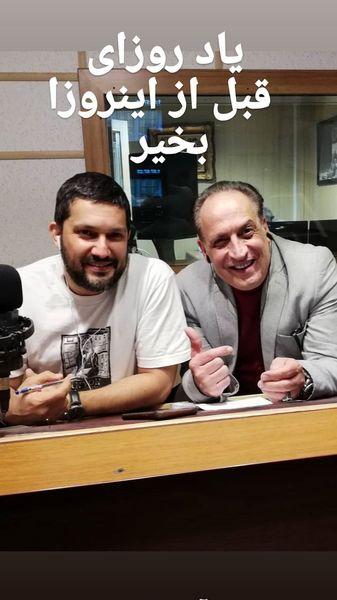 همکاری رادیویی بهمن هاشمی با بازیگر دل + عکس