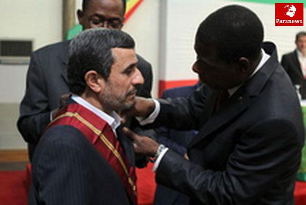 عالیترین نشان ملی بنین به احمدینژاداهداشد