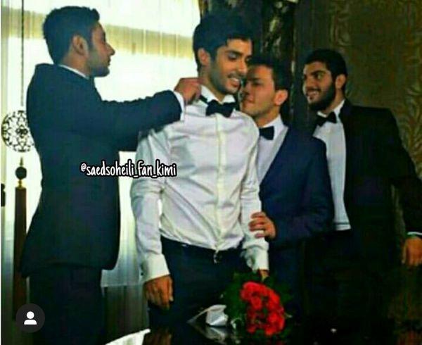 ساعد سهیلی در روز عروسی اش + عکس