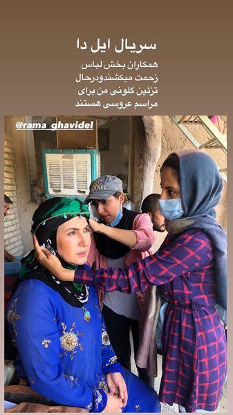 فاطمه گودرزی در حال گریمی متفاوت + عکس