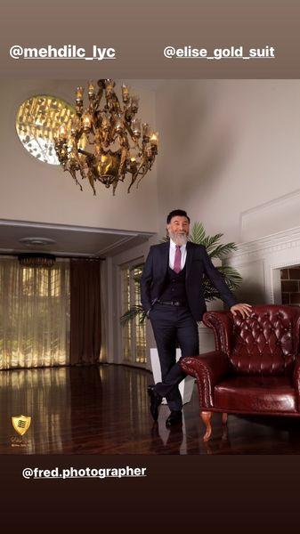 علی انصاریان در تبلیغ یک برند مشهور + عکس
