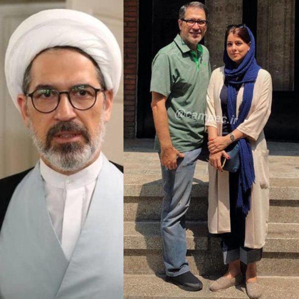 عکس حاج آقای سریال ستایش و همسرش