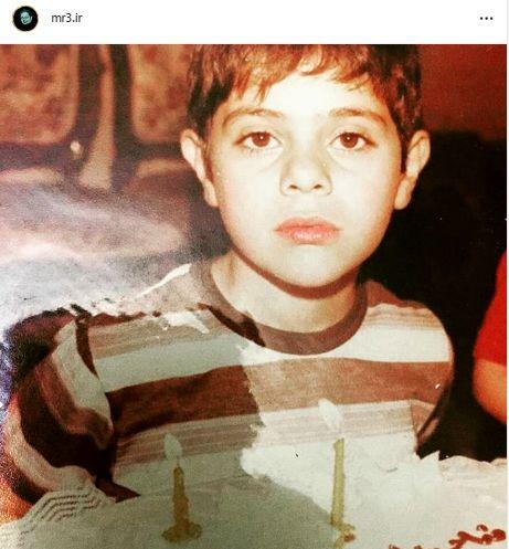 عکس کودکی آقای مجری چهل سال قبل