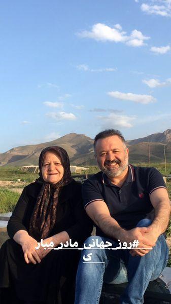 سید علی صالحی و مادرش در سفر + عکس