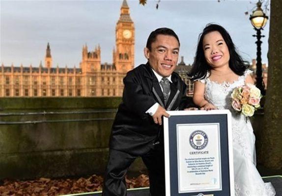 قدکوتاهترین زوج دنیا در روز عروسی+ تصاویر