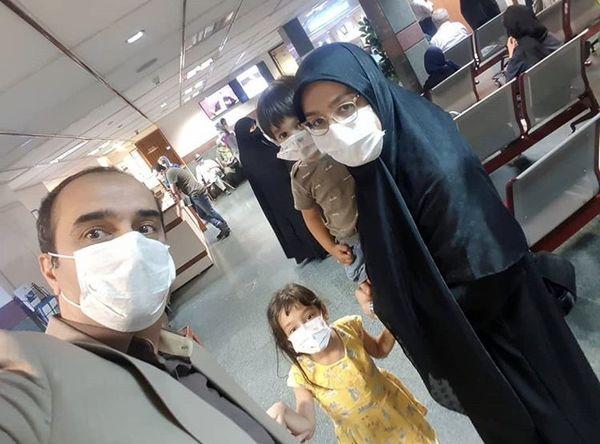 خانواده مجری مشهور در بیمارستان + عکس