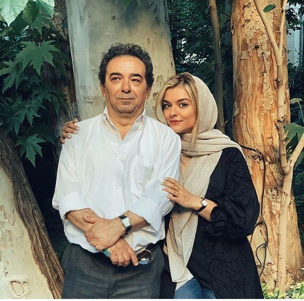 دنیا مدنی در آغوش همسر سابق خانم بازیگر + عکس