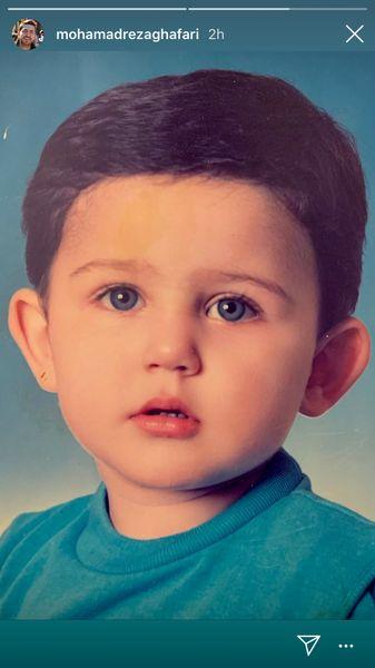 محمدرضا غفاری در کودکی + عکس