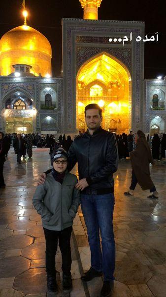 پویا امینی و پسرش در مشهد + عکس