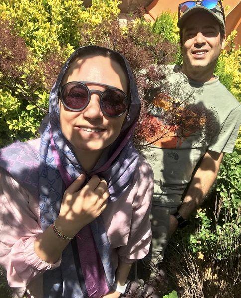 زوج بازیگر مشهور در دل طبیعت + عکس