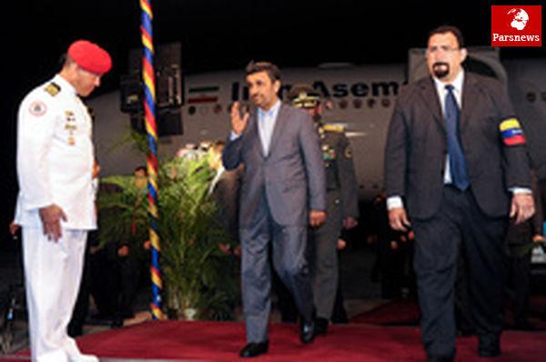 رییسجمهور وارد کاراکاس شد
