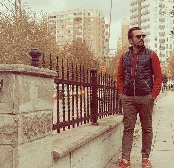 قدم زن آقای بازیگر در خیابان های تهران + عکس