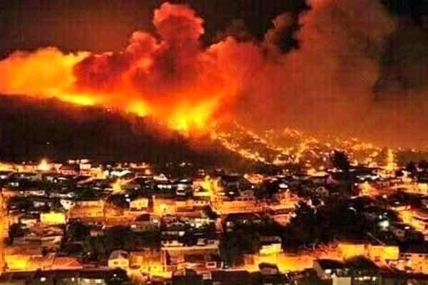 آتش سوزی گسترده در جنوب فلسطین اشغالی