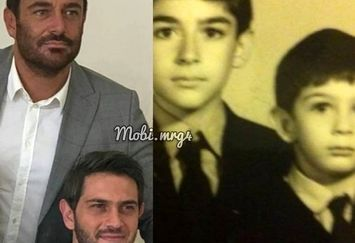 عکس بامزه کودکی محمدرضا گلزار و برادرش